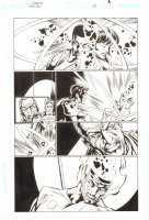 Trinity #23 p.7 - Justice Society International and Firestorm - 2008 Signed by Mark Bagley Comic Art