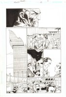 Trinity #23 p.8 - United Nations - 2008 Signed by Mark Bagley Comic Art