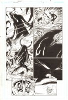 Trinity #24 p.9 - Morgaine Le Fey - 2008 Signed by Mark Bagley Comic Art