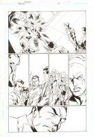 Trinity #24 p.11 - Firestorm, Flash, & Justice Society International - 2008 Signed by Mark Bagley Comic Art