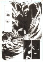 Trinity #25 p.5 - Explosion - 2008 Signed by Mark Bagley Comic Art