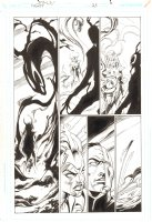 Trinity #25 p.6 -  Morgaine Le Fey and Enigma - 2008 Signed by Mark Bagley Comic Art