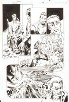Trinity #25 p.7 -  Flash vs. Felix Faust - 2008 Signed by Mark Bagley Comic Art