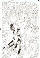 Trinity #26 p.11 - Charity and Tarot Summoning Splash - 2008 Signed by Mark Bagley Comic Art