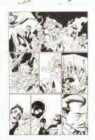 Trinity #25 p.4 - Green Arrow, Flash, Hourman, & Others - 2008 Signed by Mark Bagley Comic Art