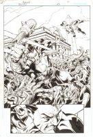 Trinity #23 p.4 - Black Adam Battle Action Splash - 2008 Comic Art