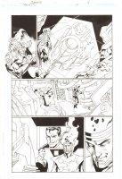 Trinity #14 p.6 - Martian Manhunter, Green Lantern John Stewart, Atom, and Firestorm - 2008 Comic Art