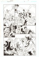 Trinity #18 p.7 - Red Tornado, Starfire, Green Arrow, Green Lantern John Stewart, & Interceptor (Supergirl) - 2008 Comic Art