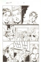 BBDO Campbell's Diversity: Ultimate Spider-Man/Ultimate X-Men #1 p.4 - Peter, MJ, and Liz Allan in Class - 2009 Signed by Mark Bagley Comic Art