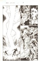 BBDO Campbell's Diversity: Ultimate Spider-Man/Ultimate X-Men #1 p.8 - Storm Calls Lightning and Rises into the Sky at High School - 2009 Signed by Mark Bagley Comic Art