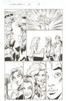 Ultimate Spider-Man #68 p.18 - Peter, MJ, and Liz Allen in High School - 2005 Signed Comic Art