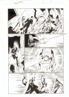 Trinity #14 p.9 - Red Tornado, Green Lantern John Stewart, Atom, and Firestorm - 2008 Signed by Mark Bagley  Comic Art