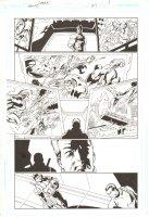 Trinity #27 p.5 - Power Girl & Hawkgirl Action - 2008 Comic Art