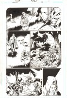 Trinity #19 p.3 - Tarot and Gangbuster on Motorcycle - 2008 Comic Art