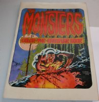 The Monsters: Color the Creature Book - 1974 Comic Art