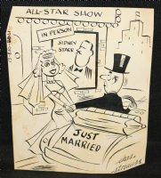 Just Married Gag - Signed Comic Art