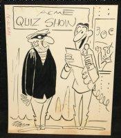 Burglar at Quiz Show Gag - Signed Comic Art