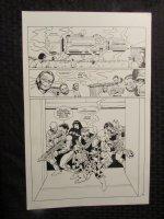 Planet Of The Apes #? p.9 Whole Human Team 1/2 Splash Comic Art