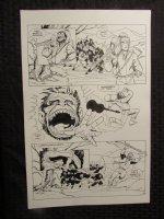 Planet Of The Apes #? p.15 Mongo vs Ninja Apes Comic Art