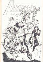Avengers: Captain America, Iron Man, Black Widow, Thor, Hulk, and Hawkeye - 2012 Signed Comic Art