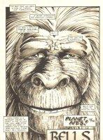 Planet of the Apes #12 p 1 Title Page - Malibu Comics - 1991 Comic Art
