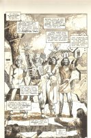 Planet of the Apes #12 p 2 Splash - Alexander Return to Ape City - Malibu Comics - 1991 Comic Art