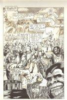 Planet of the Apes #12 p 3 - Celebration Scene - Malibu Comics - 1991 Comic Art