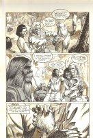 Planet of the Apes #12 p 4 - Alexander Rejoins Family and Friends - Malibu Comics - 1991 Comic Art