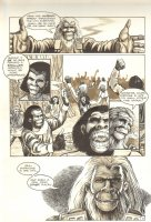 Planet of the Apes #12 p 5 - Preparation for Great Event - Malibu Comics - 1991 Comic Art