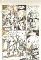 Planet of the Apes #12 p 6 - Rejoining Scene - Malibu Comics - 1991 Comic Art