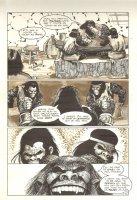 Planet of the Apes #12 p 10 - Conversation Over Food - Malibu Comics - 1991 Comic Art