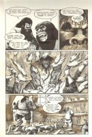 Planet of the Apes #12 p 11 - Action Scene - Malibu Comics - 1991 Comic Art