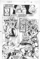 Cable #9 p.16 - Cable vs. Omega Red - 1994 Comic Art