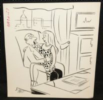 Babe on the Boss' Lap Gag - Signed Comic Art
