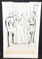 Serviceman with Old Couple Gag - Signed Comic Art