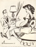 All Dated Up  Proposal Gag - 1956 Humorama Comic Art