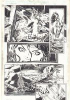 Elektra #19 p.3 - Elektra Action - 1998 Signed Comic Art