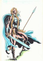 Valkyrie Color Commission - Signed Comic Art