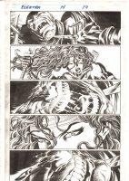 Elektra #14 p.19 - Elektra Interrogates Kuroyama - 1998 Signed Comic Art