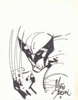 Wolverine with Claw Drawn - Signed Comic Art