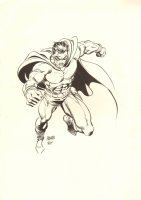 Hero Piece done by Father and Son - Double Signed Comic Art