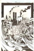 Thor #502 p.1 - Red Norvell & Thor 100% Splash - 1996 Comic Art