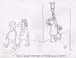 Brandy Cane Gag - on 8.5 x 11 Comic Art