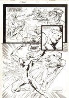 Solar, Man of the Atom #57 p.14 - Solar Action Splash - 1996 Signed Comic Art