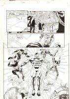 Solar, Man of the Atom #57 p.20 - Cool Solar Splash - 1996 Signed Comic Art