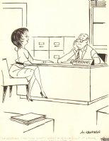 Fast Typing Secretary Gag - 1962 Humorama  Comic Art