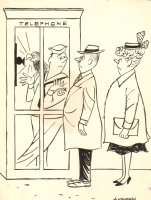 Navy Guy w/ Bird Gag - 1957 Humorama  Comic Art