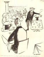 Magician Show Heckling Gag - 1961 Humorama  Comic Art
