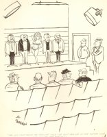 Bikini Babe in Police Line up - Humorama 1963 Comic Art