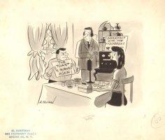 Bad Cook Wife  - B&W Art - True 1947 Comic Art